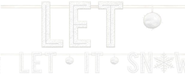 Let It Snow Letter Banner - 1.7m