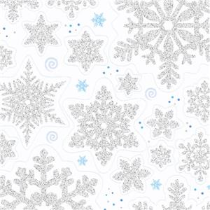 Snowflake Vinyl Window Decorations - 45cm