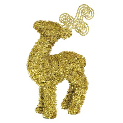 3D Tinsel Deer Gold - 29cm