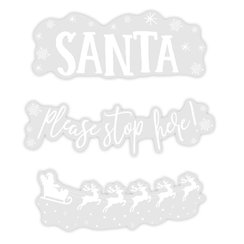 Window Sticker - Santa Stop Here