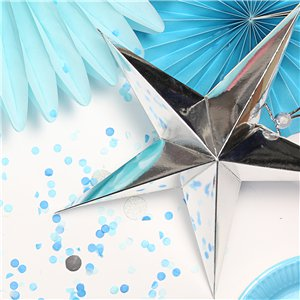Silver Paper Star Decoration- 45cm