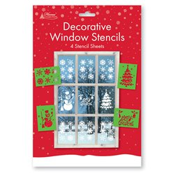 Decorative Christmas Window Stencils
