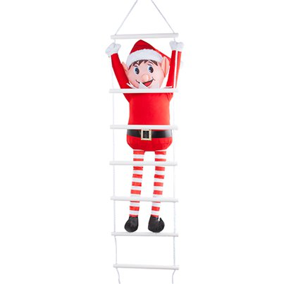 Naughty Elf On Ladder Outdoor Christmas Decoration - 80cm