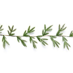Light Green Snowy Pine Garland - 1.8m