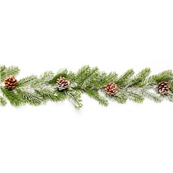 Snowy Pine Cone Garland - 1.8m