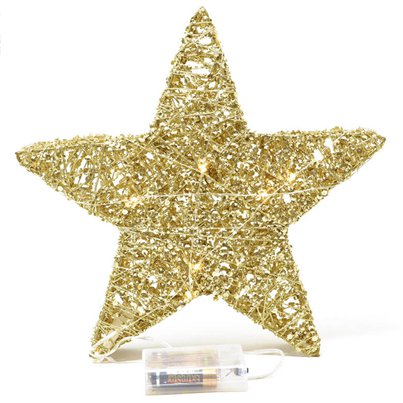Gold Light Up Metal Star - 30cm