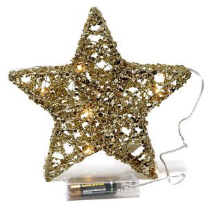 Gold Light Up Metal Star - 20cm