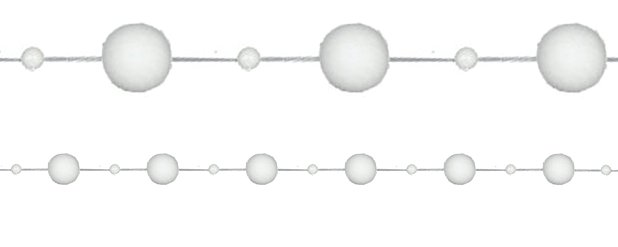 White Snow Ball Garland - 1.1m