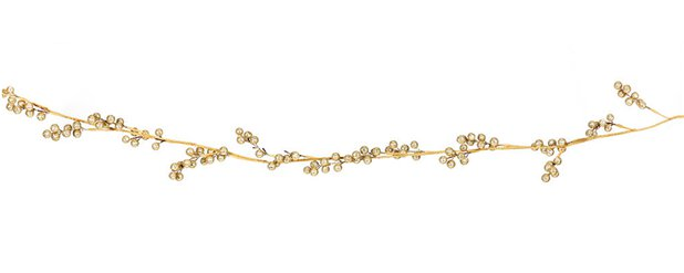 Golden Glitter Mistletoe Garland - 1.45m