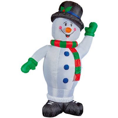 Inflatable Happy Snowman - 2.4m