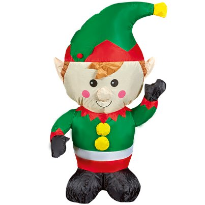 Inflatable Waving Elf - 1.1m