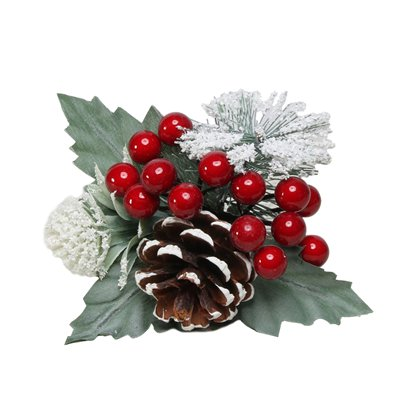 Red Snowy Berry, Spruce and Cone Pick