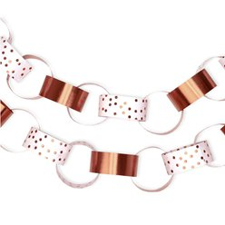 Rose Gold & White Dots Paper Chains