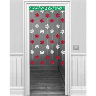 Christmas Door Covers.Christmas Door Curtains Festive Door Covers Party Delights