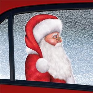 Santa Backseat Driver Car Cling Decoration