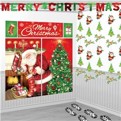 Santa's Visit Room Decorating Kit