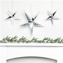 Silver Star Fireplace Decorating Kit