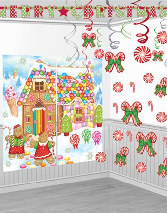 Candy Cane Room Decorating Kit