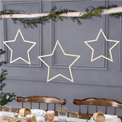 Star Wooden Hanging Decorations