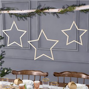 Star Wooden Decorations