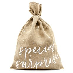 Special Surprise Hessian Present Sack - 55cm