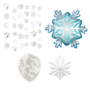 Snowflake Room Decorating Kit - 40 Pieces