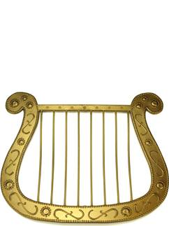 Gold Angel Harp
