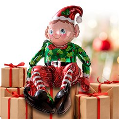 "Sitting Elf Balloon - 29"" Foil"