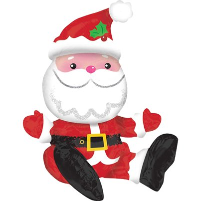 "Sitting Santa Balloon - 21"" Foil"