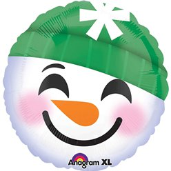 "Snowman Smiley Face Balloon - 18"" Foil"