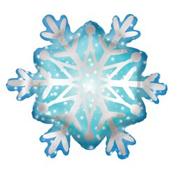 "Satin Snowflake SuperShape Balloon - 27"" Foil"