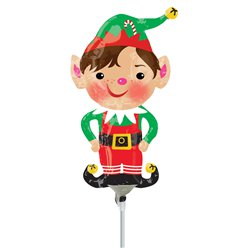 "Jolly Christmas Elf Mini Airfill Balloon - 9"" Foil"