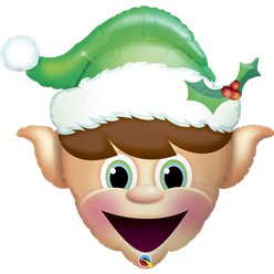 "Christmas Elf Giant Balloon - 35"" Foil"