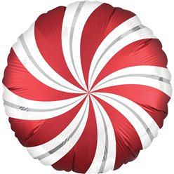 "Sangria Red Candy Swirl Balloon - 18"" Foil"