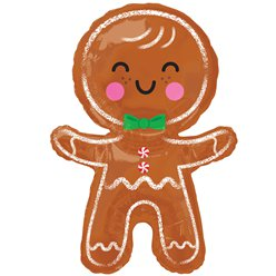 "Gingerbread SuperShape Balloon - 31"" Foil"