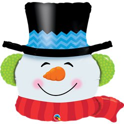 Smiling Snowman Balloon - 36""