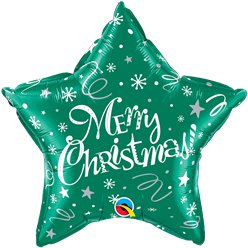 Festive Green Merry Christmas Foil Balloon - 20""