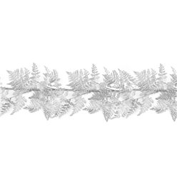 Silver Glitter Fern Garland - 6ft