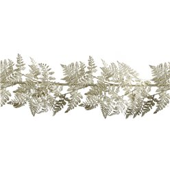Gold Glitter Fern Garland - 6ft