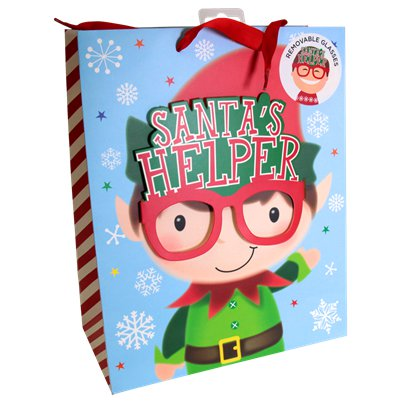 Large Santa's Helper Christmas Gift Bag - 33cm