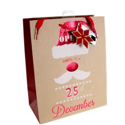 "Large ""DO NOT OPEN"" Christmas Gift Bag - 33cm"