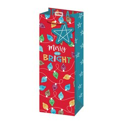 Merry and Bright Christmas Bottle Bag - 35cm
