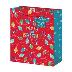 Merry and Bright Large Christmas Gift Bag - 33cm