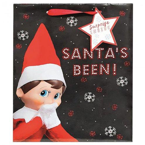 Elf Christmas Gift Bags.Elf On The Shelf Large Christmas Gift Bag 33cm