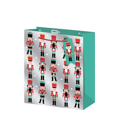 Nutcracker Large Christmas Gift Bag - 33cm