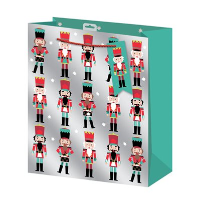Nutcracker Extra large Christmas Gift Bag - 45cm