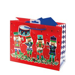Nutcracker Medium Christmas Gift Bag - 26cm