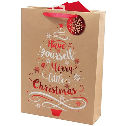 Kraft Tree Extra Large Christmas Gift Bag - 45cm
