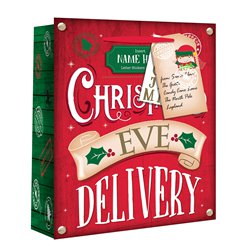 Large Christmas Eve Personalised Delivery Gift Bag - 33cm
