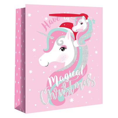 Extra Large Magical Unicorn Christmas Gift Bag - 45cm